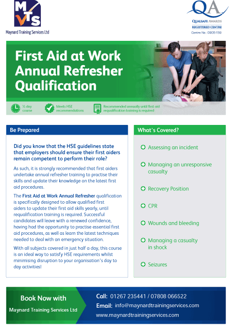 QA_Centre_Marketing_-_First_Aid_at_Work_Annual_Refresher_Flyer