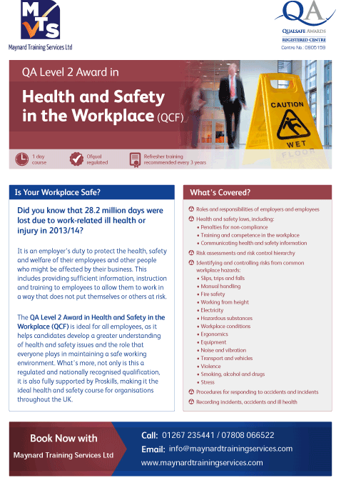 QA_Centre_Marketing_-_Health_&_Safety_in_the_Workplace_Flyer